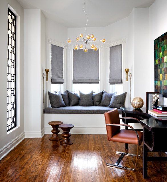 Victorian Home Contemporary Office