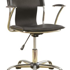 Durable Office Chairs Plastic Reclining Garden Uk Black Leather Like Viny Task Chair With Adjustable Height
