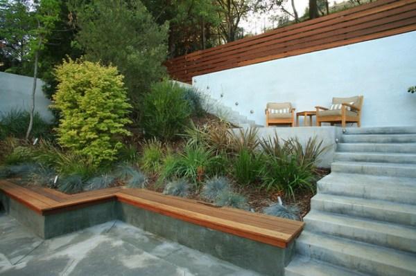 terraced hillside contemporary
