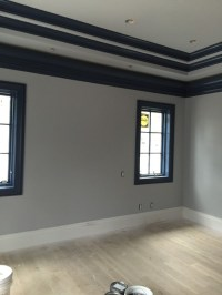 Grey and navy blue room