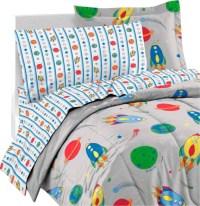 Space Rocket Ship Comforter Sheets Sham Twin Bedding ...