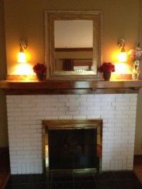 Restore or not? Removing paint from fireplace brick