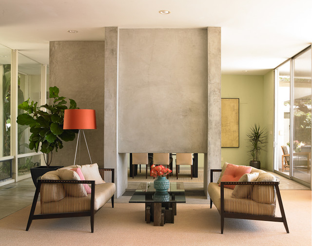 Coastal Modern  Beach Style  Living Room  Los Angeles  by DunnEdwards Paints