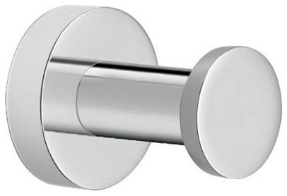 modern round chromed brass bathroom hook - contemporary - robe