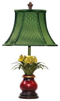 Sterling Industries Flowers In Ruby Vase Tropical Table ...