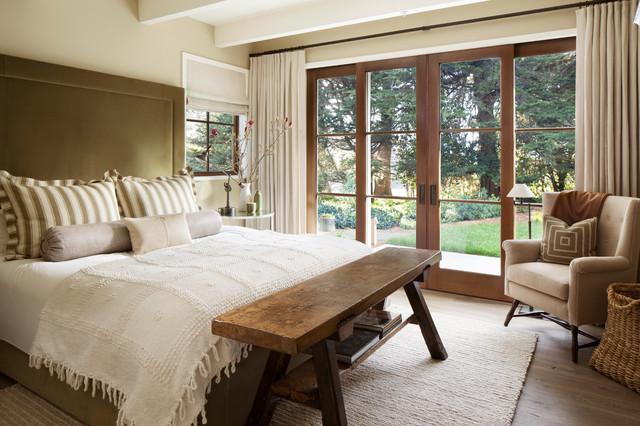 Menlo Park  Farmhouse  Bedroom  San Francisco  by