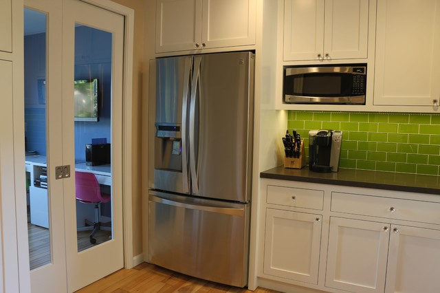 Eclectic Kitchen Featuring Face Frame Cabinets With Inset ShakerStyle Doors  Transitional