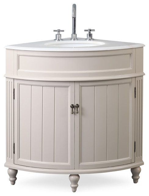 24 Thomasville Taupe Corner Bathroom Vanity Traditional Bathroom Vanities And Sink Consoles By Chans Furniture