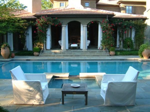 tuscan villa garden - mediterranean