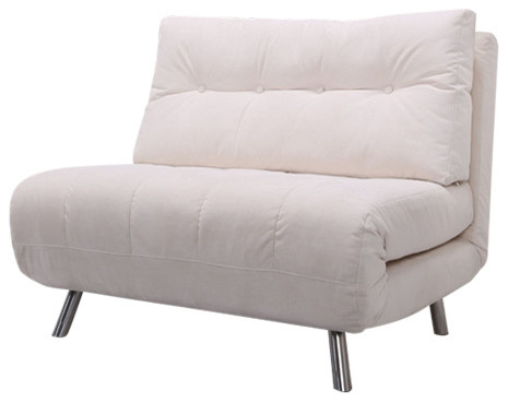chair to bed convertible santa covers canada tampa big contemporary sleeper chairs by gold sparrow fabric sofa ivory