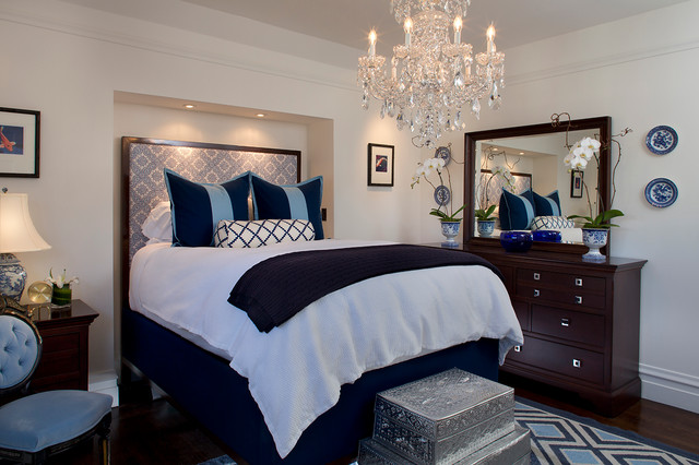 Trendy Bedroom Photo In San Francisco With White Walls