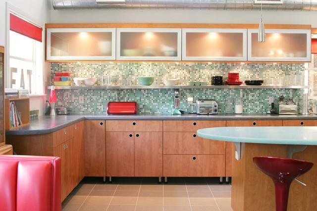 Retro Kitchen Contemporary Kitchen Dallas By Kitchen Design