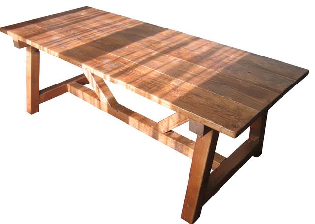 Trestle Farmhouse Table, Reclaimed Wood