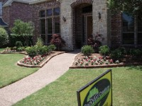 Frisco front yard landscaping - Traditional - Landscape ...