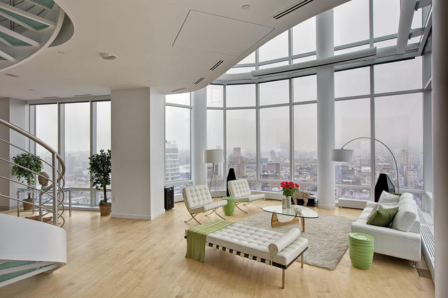 morris chairs for sale high wooden chair chelsea duplex penthouse - modern living room new york by marie burgos design
