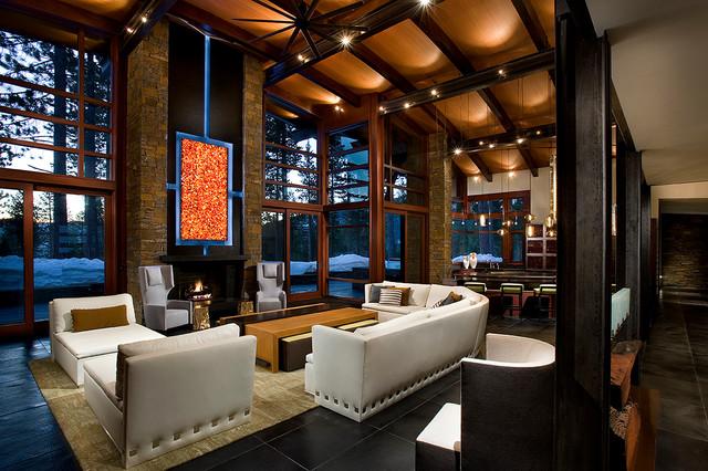 Modern Mountain Home  Contemporary  Living Room  Sacramento  by IMI Design