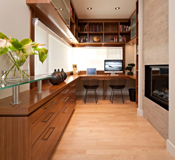 modern home office interior design Residential - Modern - Home Office - Calgary - by Tracy