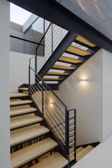 Sunset Overlook  Modern  Staircase  San Francisco  by John Lum Architecture Inc AIA