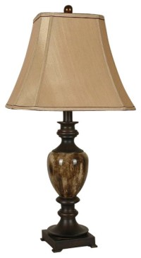 Faux Marble Table Lamps With Shades, Set of 2, Bronze ...