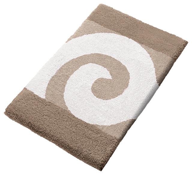 Vita Futura Taupe Non Slip Washable Bathroom Rug, Filou
