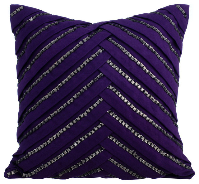cushion cover 18x18 purple velvet