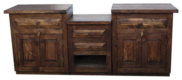 Double Sink Vanity from Reclaimed Wood  Farmhouse