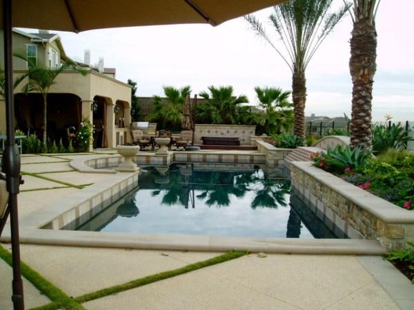 modern tuscan dramatic pool outdoor