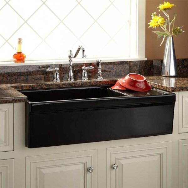 "farmhouse kitchen sink with drainboard 36"" Aulani Italian Fireclay Farmhouse Sink with Drainboard"