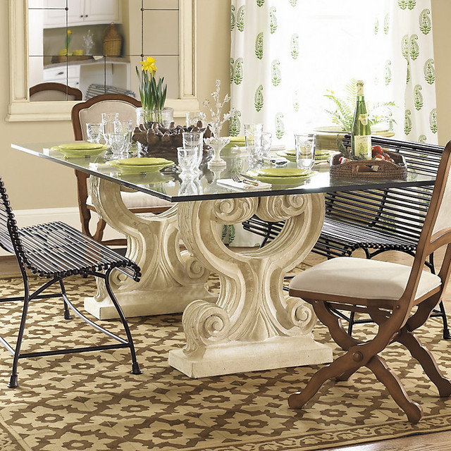 Ballard Designs Twin Acanthus Dining  Contemporary