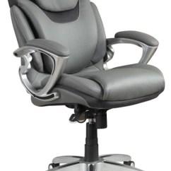 Serta Bonded Leather Executive Chair Wheelchair Dubai Air Office Grey - Contemporary Chairs By Cymax