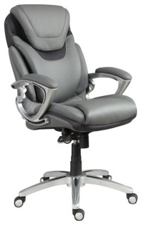 Serta AIR Executive Office Chair Grey Bonded Leather ...
