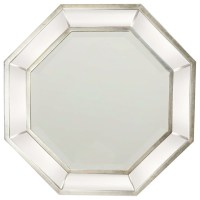 Garber corp Octagon Wall Mirror, Silver Finish