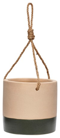 Hanging Planter - Sand/Black - Contemporary - Indoor Pots ...