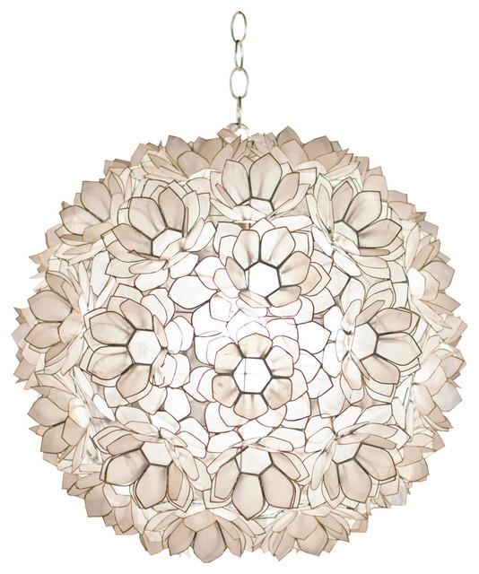 Jupiter Capiz Shell Pendant 20 Beach Style Lighting