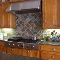 French Country Lighting Fixtures Kitchen Window Pass Through Slate Backsplash - Traditional Dallas By ...