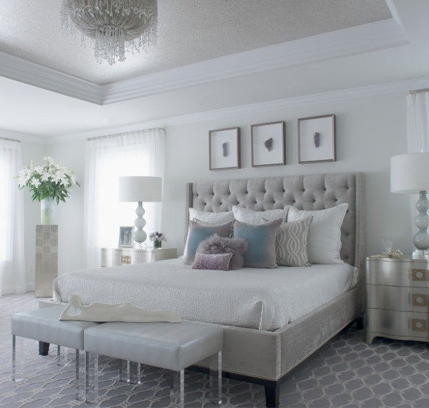 modern glam - transitional - bedroom - new york -susan glick
