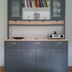Kitchen Dresser Wood Top Island Large In Scree And White Handmade Scotland By The Edinburgh Contemporary Display Cabinets Dressers