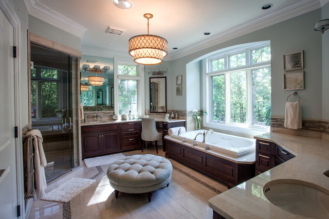 French Country European Style Home  Traditional  Bathroom  Detroit  by MJ Whelan Construction