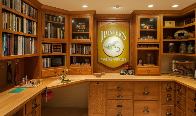Fly Tying Room Traditional Basement Tampa By TRK
