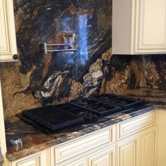 Yellow Kitchen Rugs Table With Leaf Magma Granite Countertop And Backsplash - Contemporary ...
