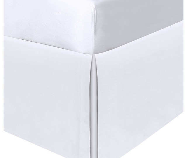 Space Saver Tailored Under Bed Storage 21 White Bedskirt