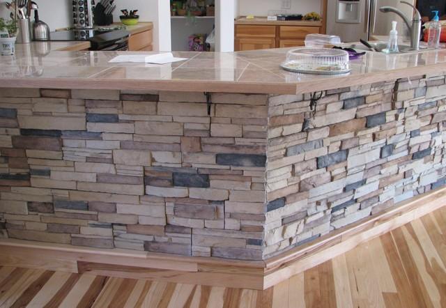 Kitchen Island Stone Veneer