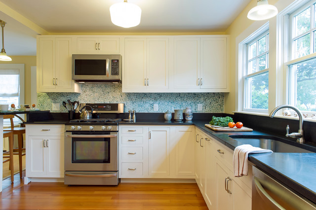 Cape Cod Beach House Remodel Beach Style Kitchen Boston By