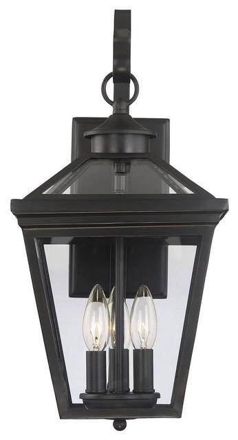 3 light modern farmhouse outdoor wall mount lantern english bronze