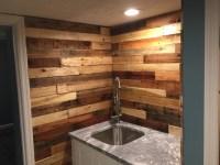 Pallet Wood Backsplash - Rustic - Home Bar - Columbus - by ...