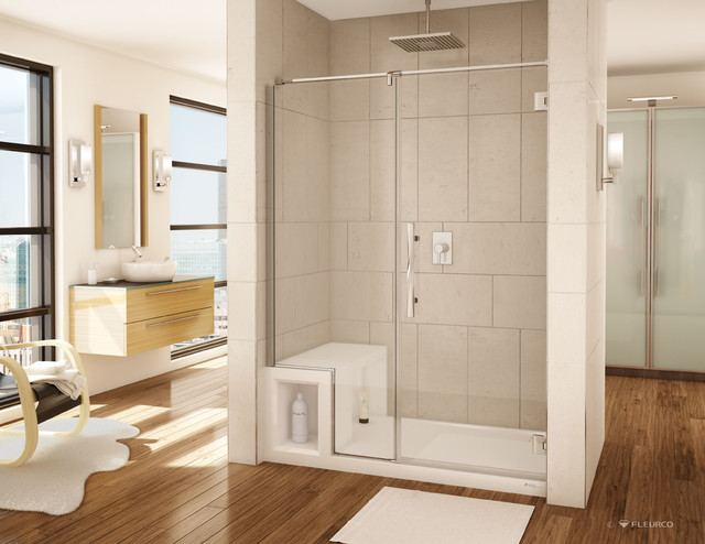 swanstone kitchen sink 1950s appliances acrylic shower base and pivoting door system ...