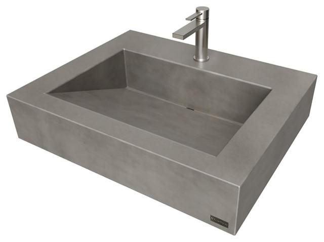 24 ada floating concrete ramp sink charcoal