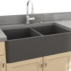 Kitchen Sink Farmhouse Caddy Nantucket Sinks 33 Double Bowl Gray Fireclay