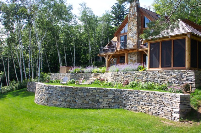 Garden Walls Dry Stacked Stone Walls Keep Their Place In The Garden