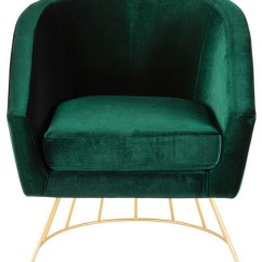 Green Velvet Swivel Chair Clamp On High Lumisource Canary Tub Gold Metal And Emerald Contemporary Armchairs Accent Chairs By